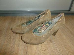 Pumps Schuhe beige Leder Tamaris