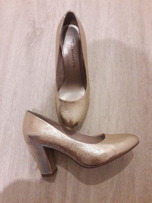 Pumps Schuhe gold goldfarben Tamaris