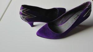 Pumps Schuhe lila brombeere Größe 39 Absatz ca 6cm