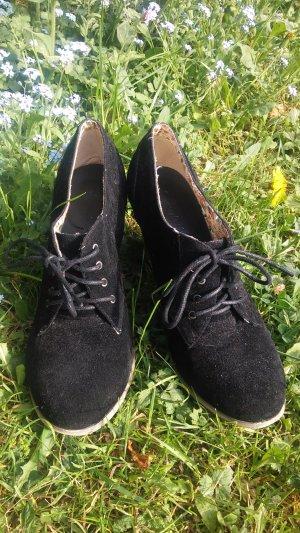Kayla Tacones con cordones negro