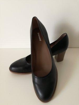 Graceland Chaussure à talons carrés noir-marron clair
