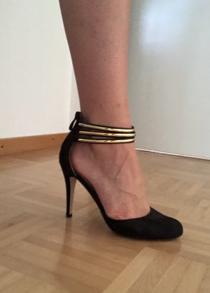 Catwalk Strapped pumps black-gold-colored