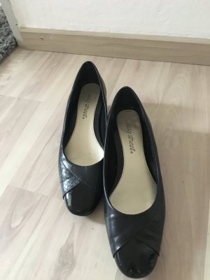 Pumps schwarz, Leder-Optik