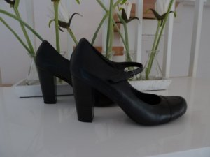 Pumps schwarz Leder Riemchen 5 th Avenue Gr. 38