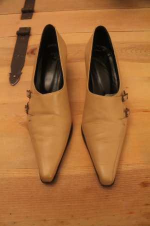 Loafers beige Leer
