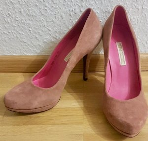 Pumps Veloursleder Alt-Rosa