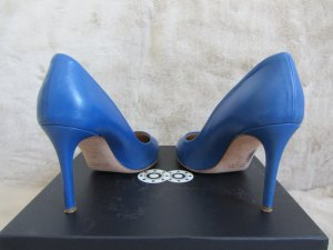 8 High Heels blue leather