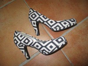 Arizona Tacones altos negro-blanco fibra textil
