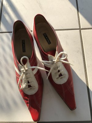 Belmondo Lace-up Pumps dark red-white