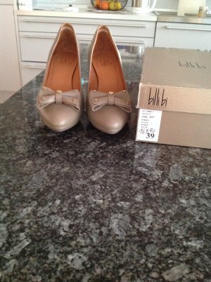 Billi Bi Pumps gold-colored-grey brown