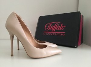 Buffalo London Pointed Toe Pumps nude-beige