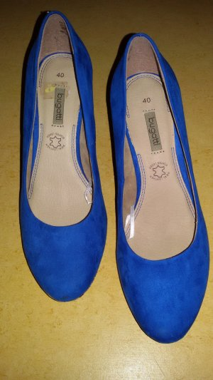 Bugatti Wedge Pumps blue