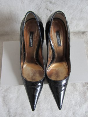 Dolce & Gabbana Pointed Toe Pumps black leather