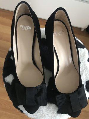 Festa High Heels black leather