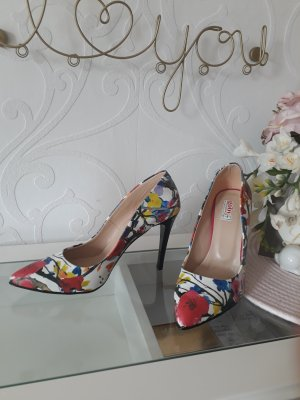 Goby Pointed Toe Pumps multicolored