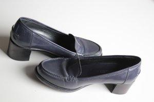 Jil Sander Loafer viola-grigio-talpa Pelle