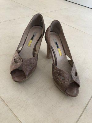 Manas Peep Toe Pumps grey brown