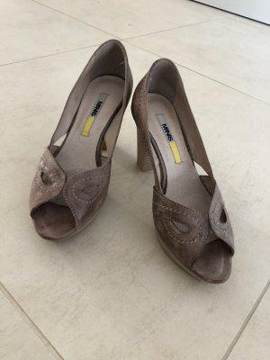Manas Décolleté con plateau marrone-grigio