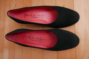 Pas de rouge Loafers zwart Suede