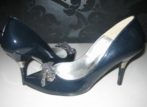 Patrizia Dini High Heels dark blue leather