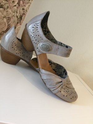 Rieker Strapped High-Heeled Sandals grey brown-beige