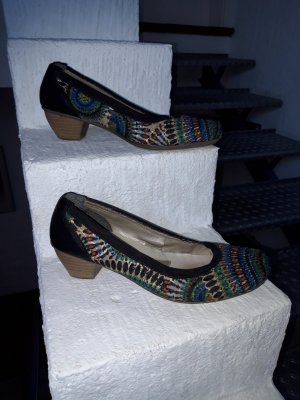 Rieker Escarpins Mary Jane multicolore fibre textile