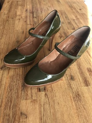 Rouge Noir Strapped pumps khaki-olive green