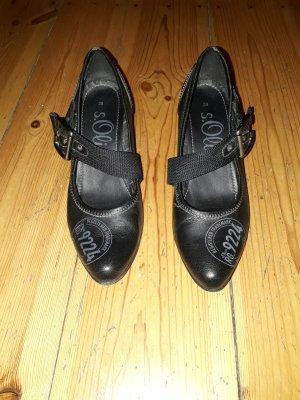s.Oliver Backless Pumps black leather