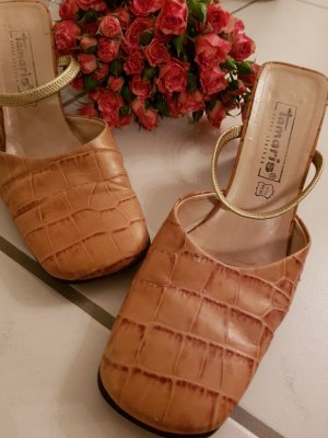 Tamaris Strapped pumps beige leather