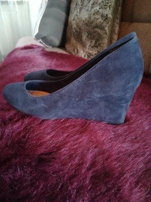 Tamaris Zapatos de cuña azul oscuro