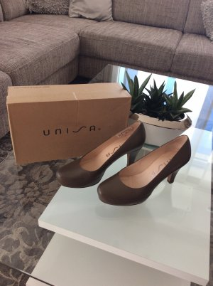 Unisa Pumps grey brown-camel leather