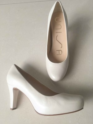 Unisa High-Front Pumps oatmeal-natural white leather