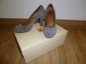 Boss Orange Escarpin à plateforme gris-brun daim