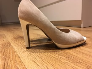 Maripé Peep Toe Pumps white-beige