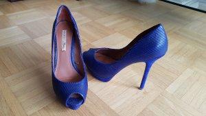 Pumps Zara Leder blau