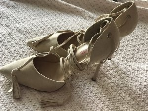 Just Fab Lace-up Pumps cream