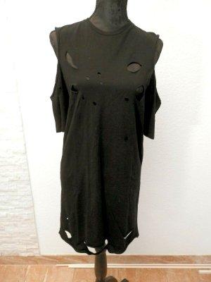 Punk Rock Kleid Gothic Grunge Fashion Blogger Cut Out Minikleid Longshirt