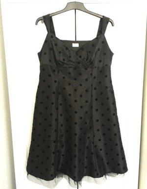 Punkte Träger-Kleid Gr. 44