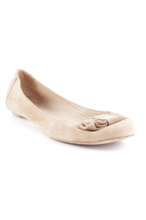 Pura Lopez Ballerines pliables marron clair style simple