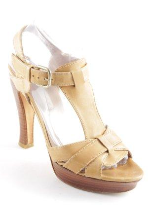 Pura Lopez High Heel Sandaletten beige Boho-Look