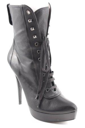 Pura Lopez High Heel Stiefel schwarz extravaganter Stil