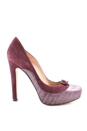 Pura Lopez High Heels rot-lila Animalmuster extravaganter Stil