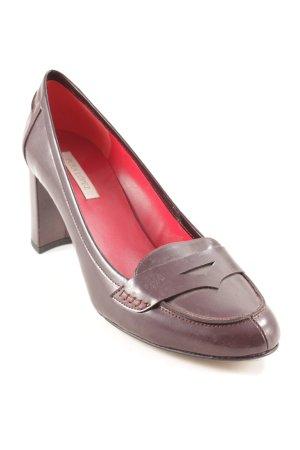 Pura Lopez High Heels braunrot Brit-Look
