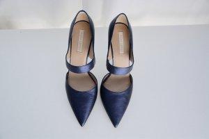 PURA LOPEZ High Heels dunkelblau metallic neu