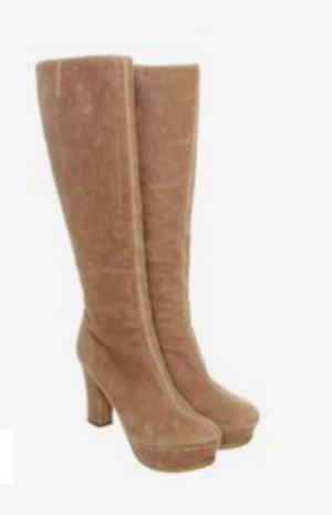 Pura Lopez# Leder Stiefel mit Plateau# Grösse D 40/ D 40.5