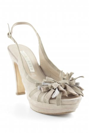 Pura Lopez Peeptoe Pumps beige Street-Fashion-Look