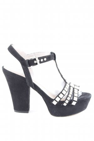 Pura Lopez Sandales à talons hauts et plateforme noir style extravagant