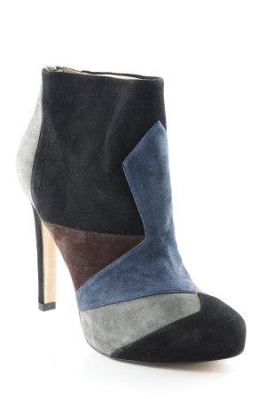 Pura Lopez Reißverschluss-Stiefeletten Colourblocking Elegant