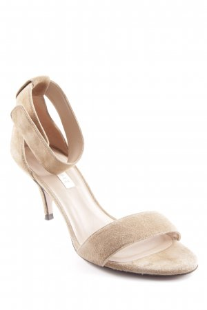 Pura Lopez Strapped High-Heeled Sandals camel elegant