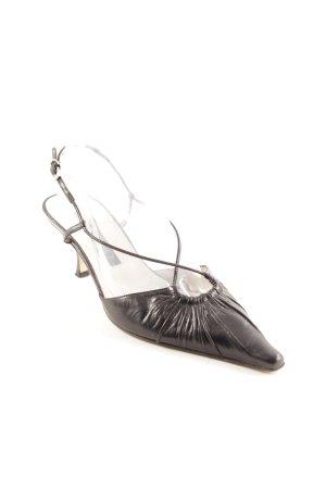 Pura Lopez Riemchen-Sandaletten schwarz Elegant